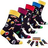 socks n socks-Männer 5 pk Bunte Baumwolle Neuheit Cocktails Getränke Socken Geschenkbox Einheitsgröße