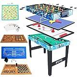 vocheer 121,9 cm Multi 14 in 1 Combo Spieltisch, Hockeytisch, Fußballtisch, Billardtisch, Tischtennistisch, Schach-Set, Pokerkarten, Backgammon-Set Geburtstagsgeschenk