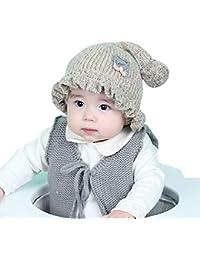 fish Bambino Appena Nato Infantile Inverno Cappello del Beanie Cappellino  Invernale della Coda Lunga di Pom Pom Lavoro a Maglia del Cranio… 15d65dcf497d