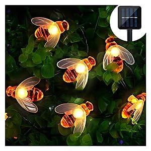 Solar LED Bienen Lichterkette, Mr.Twinklelight® 30 LED Warmweiß Außen Wasserdichte lichterkette Dekorative für Garten, Party, Hochzeit, Haus,Fest Deko Beleuchtung (Warmes Weiß)