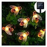 Solar LED Bienen Lichterkette Mr.Twinklelight 30 LED Warmweiß Außen Wasserdichte lichterkette Dekorative für Garten, Party, Hochzeit, Haus,Fest Deko Beleuchtung