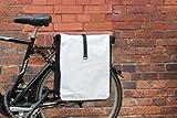 Gravidus Packtasche Fahrradtasche Gepäcktasche Satteltasche aus LKW Plane NEUES MODELL Weiß