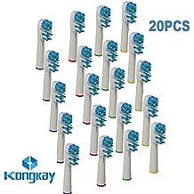 KongKay® 20 X Recambio para Cepillo eléctrico Compatible y en forma Braun Oral-B Dual Clean, Número de modelo: EB 417 (5PK x 4PCS)