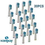 KongKay 20 X Recambio para Cepillo eléctrico Compatible y en forma Braun Oral-B Dual Clean, Número de modelo: EB 417 (5PK x 4PCS)