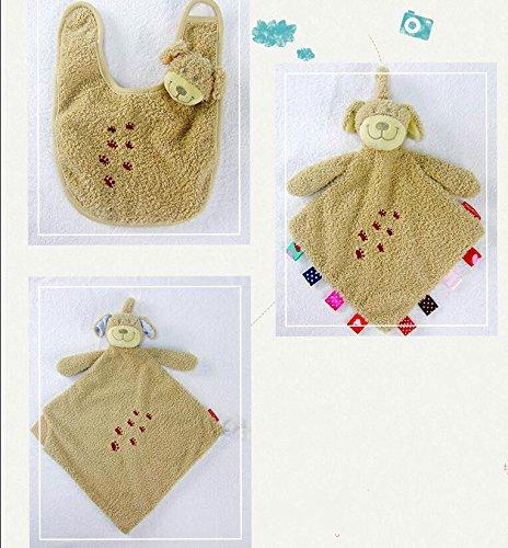 YOIL Schöne Kleinkind Baby Tröster Spielzeug Baby Tröster Spielzeug Baumwolle Handtuch Soft Handtuch Plüsch Hundespielzeug 3 Stück / Set_Khaki (Tröster Khaki)
