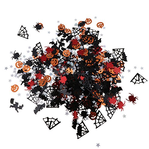 Baoblaze 30g Plastik Konfetti Tischkonfetti Streudeko mit Kürbis Fledermaus und Spinnen from für Halloween