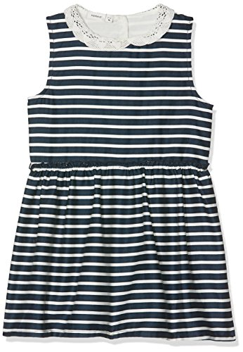 NAME IT Baby-Mädchen Kleid NMFERHARIA Spencer WL Box Blau (Dark Sapphire Stripes:Snow White) 98 (Snow White Kleinkind Kleid)
