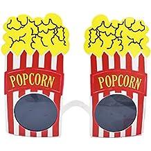 Amosfun 2 Piezas Gafas de Fiesta de Palomitas de Maíz Disfraz de Fiesta para Adultos Niños