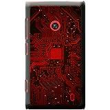 Carte mère Circuit Ordinateur Close Up Coque rigide pour téléphone portable, plastique, Red Memory Technology Board, Nokia Lumia 520