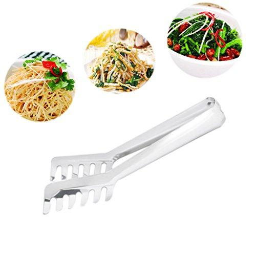 BESTONZON Gadget da Cucina di qualità Superiore–Infradito Spaghetti in Acciaio Inox, Pinze per Pasta, Pinza per Insalata, Pinza per Pasta, Pinza di Servizio