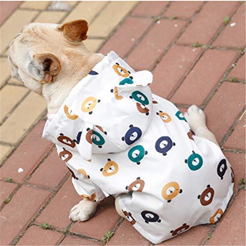Yuanou Karikatur-Hunderegenmantel-Sommer-Hund kleidet wasserdichte Haustier-Kleidung Schnauzer-Pudel Bichon Mops-französische Bulldogge kleidet Regen-Jacke