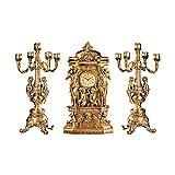 Design Toscano Château Chambord, Ensemble aus Uhr und Kandelaber