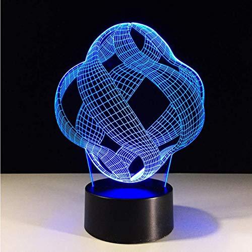 XINGXIAOYU Led Bunte Visuelle 3D Acryl Abstrakte Grafik Nachtlichter Geschenke Baby Schlafzimmer Schlaf Beleuchtung Tischlampe Dekor Leuchten -