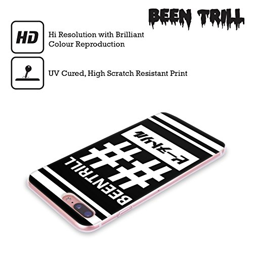 Official Been Trill Logo Drip 1 Black And White Soft Gel Case for Apple iPhone X Double Hashtag 1