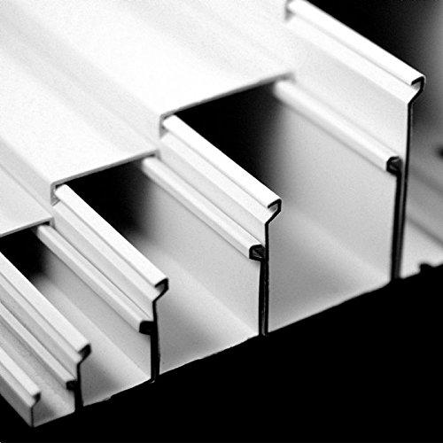 10m PVC Kabelkanal Kabelführung Elektroinstallationskanal Kabelleiste Weiß zum Schrauben 12x12mm