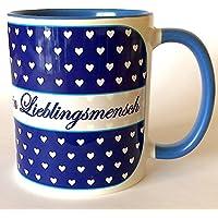 Tassen mit Sprüchen, Lieblingsmensch Tasse, Valentinstag, Geschenkidee für Männer, Tasse beste Freundin, Schwester, Oma, Geschenke unter 20 Euro für Frauen, Geschenke unter 20 Euro für Männer