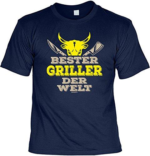Grill/Spaß-Shirt/Fun-Shirt/Rubrik lustige Sprüche: Bester Griller der Welt - geniales Geschenk Navyblau