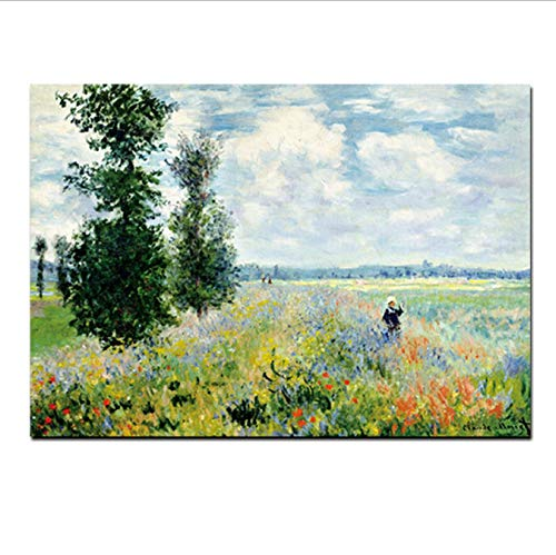 MZCYL Canvas Painting Print Claude Monet Amapolas