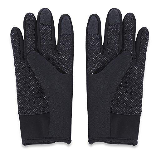 LIUYUNE,Paar Outdoor Windschutz Sport Bildschirm Handschuhe Reiten Fahrräder, Bergsteigen Motorräder und Rennwagen(Color:SCHWARZ,Size:M)