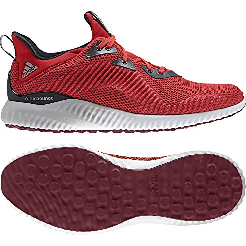 adidas Alphabounce 1, Chaussures de Running Compétition Homme Rouge (Core Red/collegiate Burgundy/utility Black)