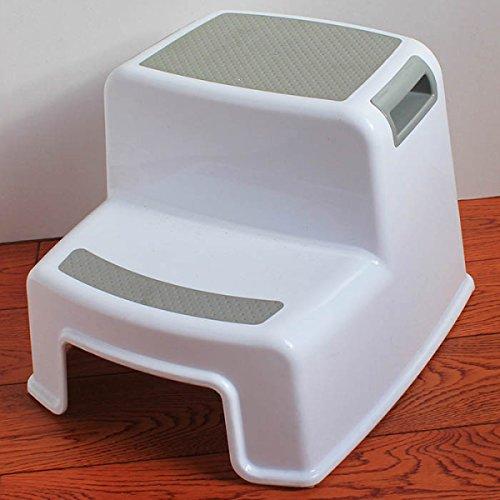 Einstellbare Küche Hocker (Kinder Kunststoff Hocker Baby Rutschfeste Leiter Badezimmer Bank Schöne Warme Fuß Hocker,B)