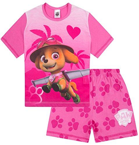 Girls Paw Patrol Short Pyjamas Skye Nick Jr 3 to 7 Years Pink Pj Pjs Nightwear