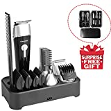 Sminiker 5 in 1 Waterproof Man's Grooming Kit Hair Clippers Beard Trimmer Dual