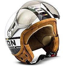 SOXON SP-325-PLUS White · Mofa Helmet Urban Vespa Retro Chopper Piloto Biker Cruiser Bobber Moto motocicleta Urbano Scooter Casco Demi-Jet Vintage · ECE ...