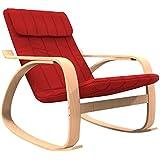 Forzza Elly Kid's Rocking Chair (Matt Finish, Red)