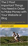 The 2 Most Important Things You Need in Order to Make Money with Your Website or Blog: Passion is second most important. But what's the first thing? (English Edition)