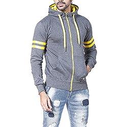 Alan Jones Solid Full Sleeves Men's Sweatshirt (SS-TRIM601-DGREY-M_Medium_Dark Grey)