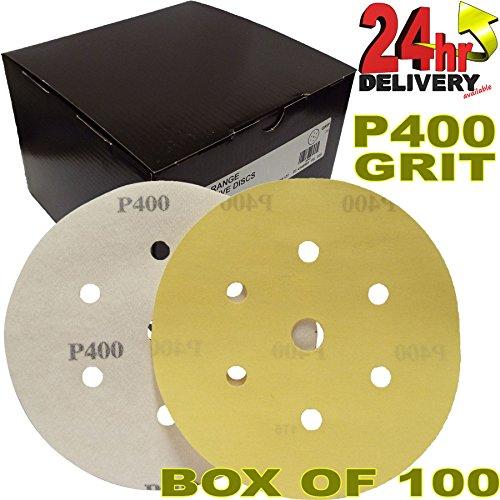 pro-range-gold-2362819941uk-mirka-plain-boxed-velcro-da-6-150mm-sanding-discs-p400-grit-pack-of-100-