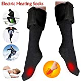 Gaddrt Heizsocken Weiche Socken Beheizte Socken warme Fußwärmer elektrische Erwärmung für Sox Jagd Eisfischen Boot 31-33CM
