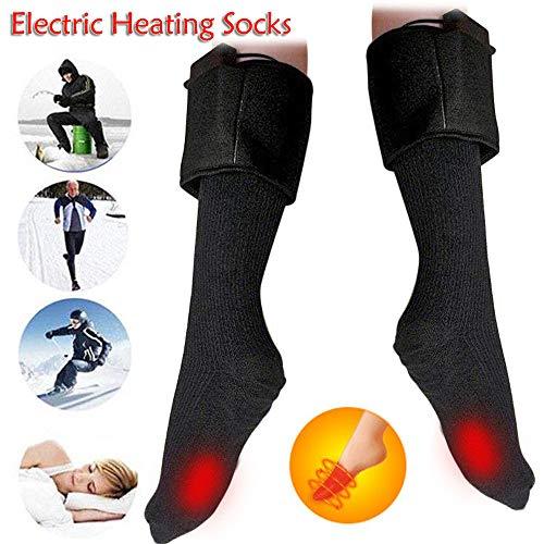 TAOtTAO Batterieheizung warme Socken Hartlötkohle Beheizte Socken warme Fußwärmer elektrische Erwärmung für Sox Jagd Eisfischen Boot
