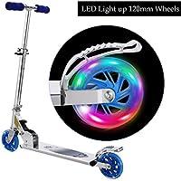 WeSkate Scooter Kinder Roller Tretroller Cityroller Kick Scooter klappbar mit LED Big Wheel Kugellager ABEC 7 für Mädchen Kinder ab 3 Jahre