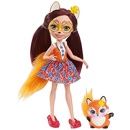 Mattel Enchantimals DVH89 - Fuchsmädchen Felicity Fox, Puppe