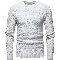Yvelands Abrigos y Chaquetas de Abrigo para Hombres, Sweatshirts Active para Hombres Jersey de Punto con Cuello Ocasional Top