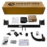 Westfalia Abnehmbare Anhängerkupplung für I 30 Schrägheck (BJ ab 03/2012) im Set mit 13-poligem fahrzeugspezifischen Elektrosatz