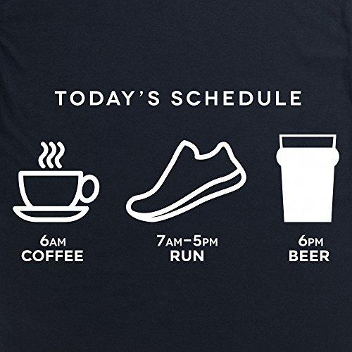 Today's Running Schedule Langarmshirt Funny Novelty Gift, Herren Schwarz