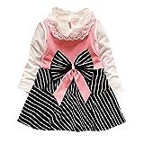 JUTOO (6M-3Y Vestidos para niñas Ropa Infantil para niños pequeños y pequeños con rayastutu niña Colores