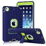 Coque Innens pour iPad Mini, iPad Mini 2, iPad Mini 3, iPad Mini Retina - Très résistante, 3 épaisseurs - Coque de protection avec béquille pour iPad Mini 1, 2 et 3