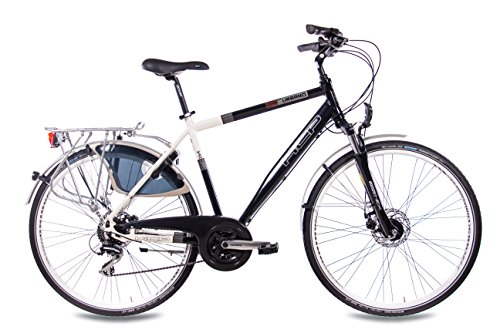 28 KCP CITY BIKE ALLOY BICYCLE URBANO MEN 24 SPEED SHIMANO ALIVIO WHITE BLACK   (28 INCH)