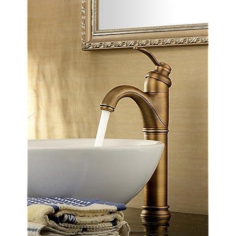 AcRco lavandino del bagno rubinetto antico ispirato il design-anticato finitura in ottone rubinetto singola maniglia