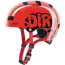 Uvex Kid 3niños Dirt Bike Skate bicicleta casco rojo/negro 2017, 55-58cm