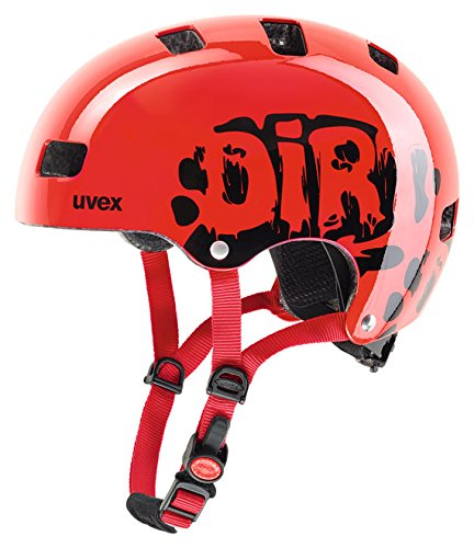 UVEX Kinder Kid 3 Radhelm, Dirtbike Red, 55-58 cm