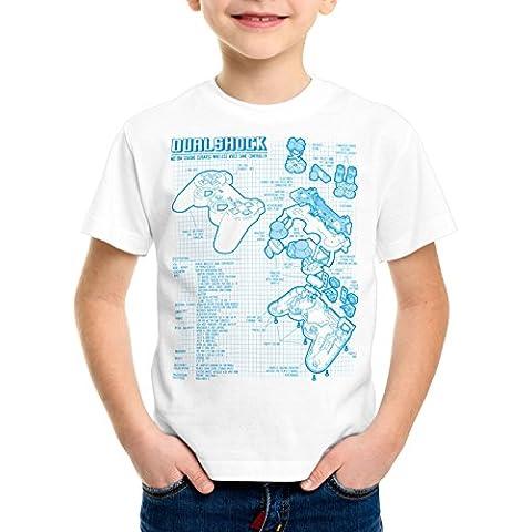 style3 Dualshock Controlador Camiseta para Niños T-Shirt PS videojuego videoconsola