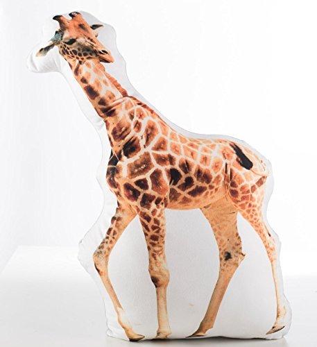 Größe 50cm Tier geformtes Kissen Digital Print Designs. Gorilla/Giraffe/Zebra/Snow Leopard giraffe (Leopard Kissen)