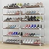 Hoher Schuh-Organisator-Raumersparnis-Speicher-Stand-Bett-Raum-Balkon 6 Tier Für 36 Paar Schuhe 30 * 90 * 120cm (Größe : 30*90*120cm)