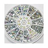 KAIMENG Gioielli artigianali autoadesivi Adesivi bling adesivi gemme di cristallo strass adesivi 650 pezzi (trasparente)