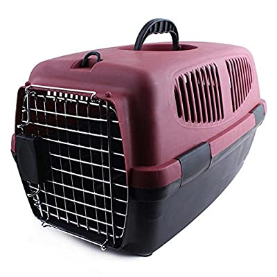 Pet Cage Airline Approved Transparent Breathable Dog Cat Carrier Portable Suitcase Travel Walking Hiking